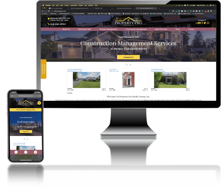 desktop and mobile image of Property Pro