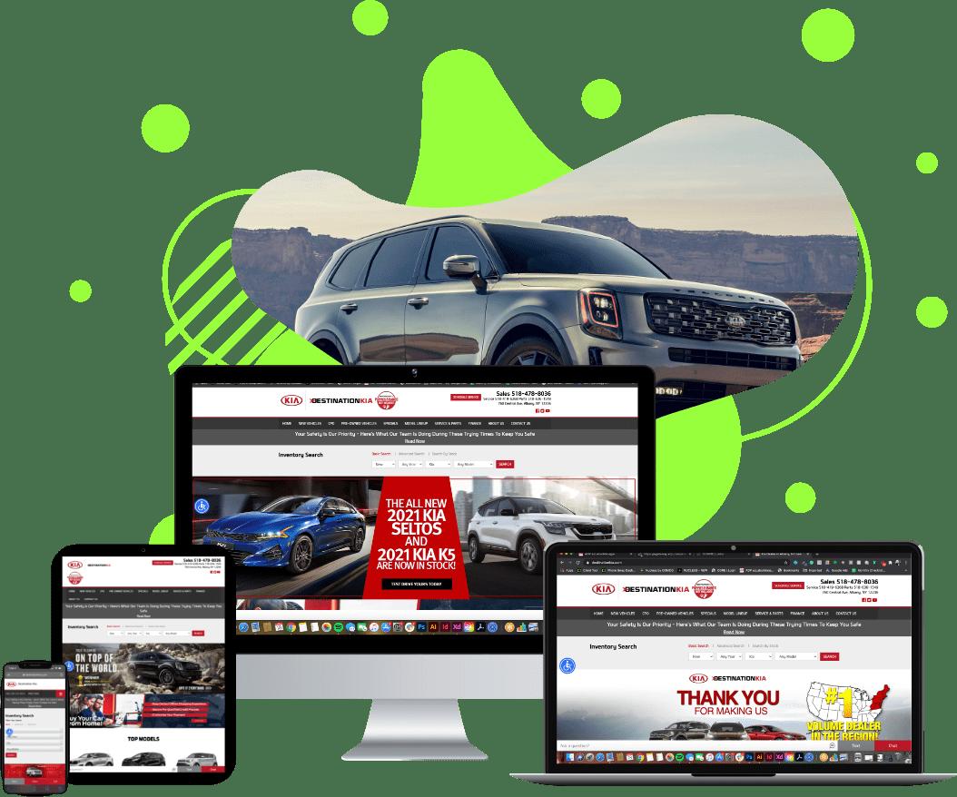 Destination Kia website